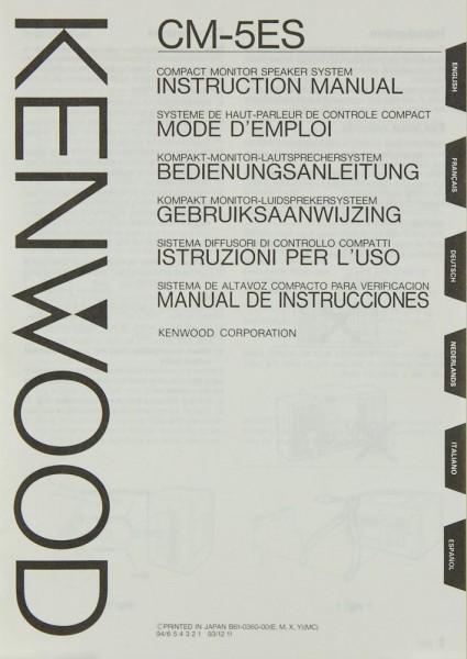 Kenwood CM-5 ES Bedienungsanleitung