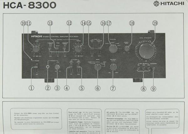 Hitachi HCA-8300 Bedienungsanleitung