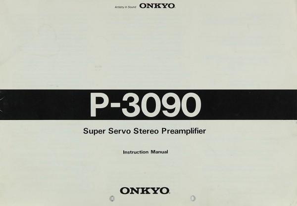 Onkyo P-3090 Bedienungsanleitung