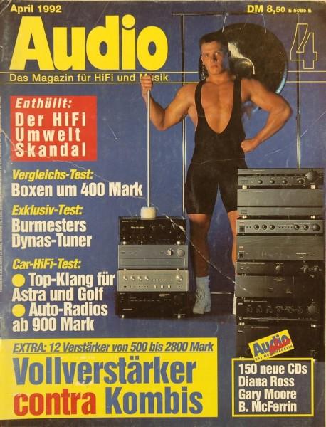 Audio 4/1992 Zeitschrift