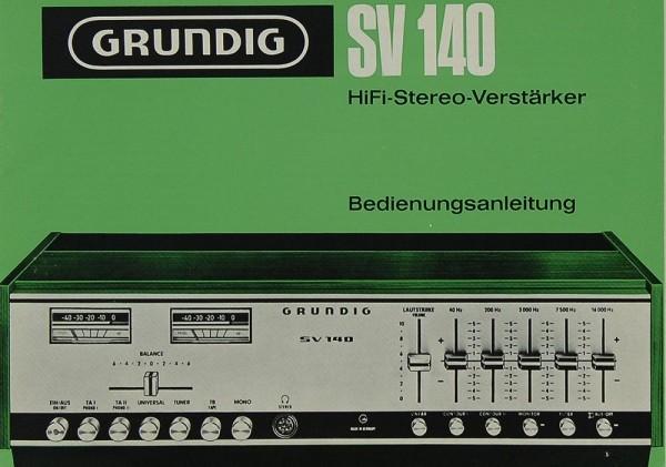 Grundig SV 140 Bedienungsanleitung