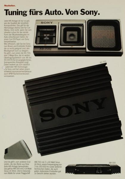 Sony Tuning fürs Auto - XS-700 / XM-700 / XM-300 Prospekt / Katalog