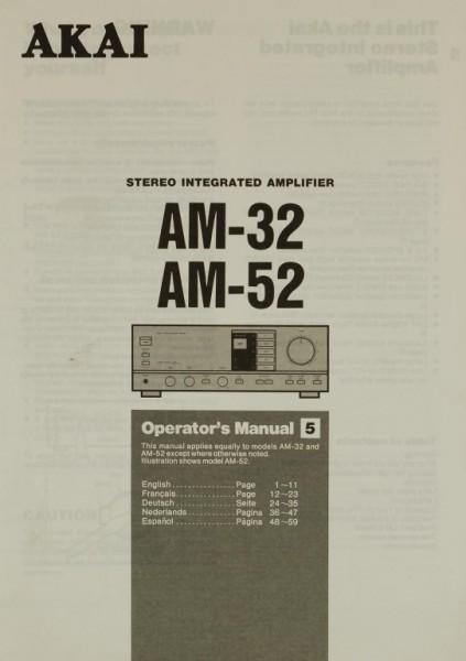 Akai AM-32 / AM-52 Bedienungsanleitung