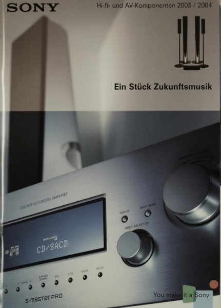 Sony HiFi & AV-Komponenten 2003 / 2004 Prospekt / Katalog