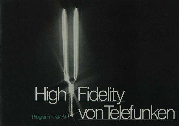 Telefunken High Fidelity 78/79 Prospekt / Katalog