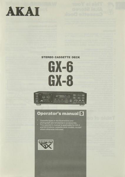 Akai GX-6 / GX-8 Bedienungsanleitung