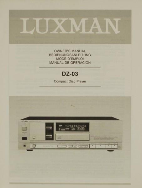 Luxman DZ-03 Bedienungsanleitung
