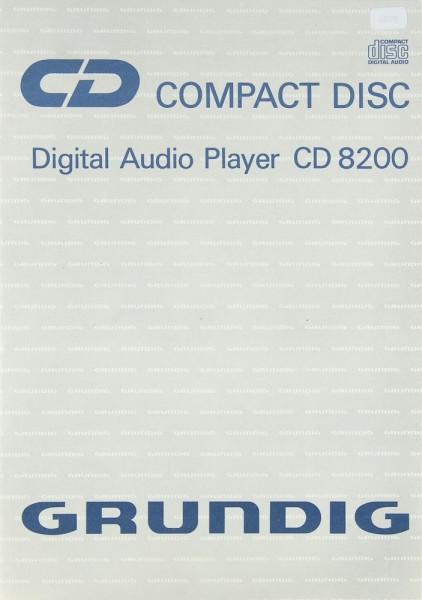 Grundig CD 8200 Bedienungsanleitung