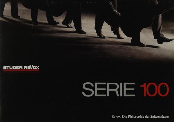 Revox Serie 100 Prospekt / Katalog