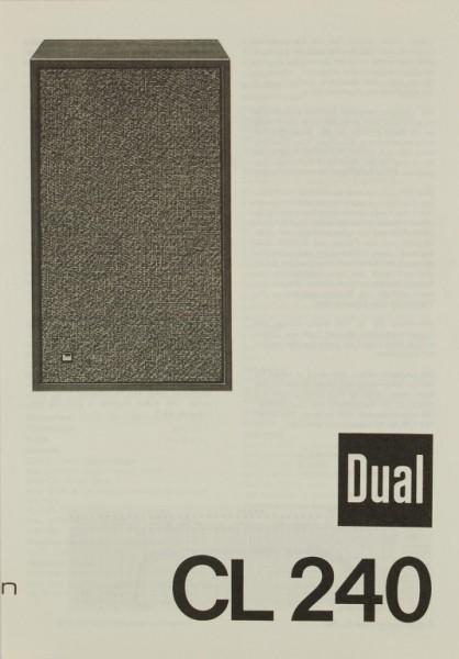 Dual CL 240 Bedienungsanleitung