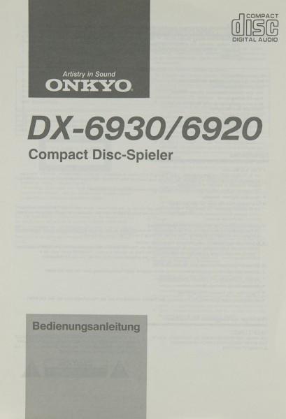 Onkyo DX-6930 / 6920 Bedienungsanleitung