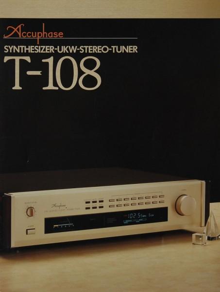 Accuphase T-108 Prospekt / Katalog