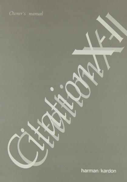 Harman / Kardon Citation X-I Bedienungsanleitung