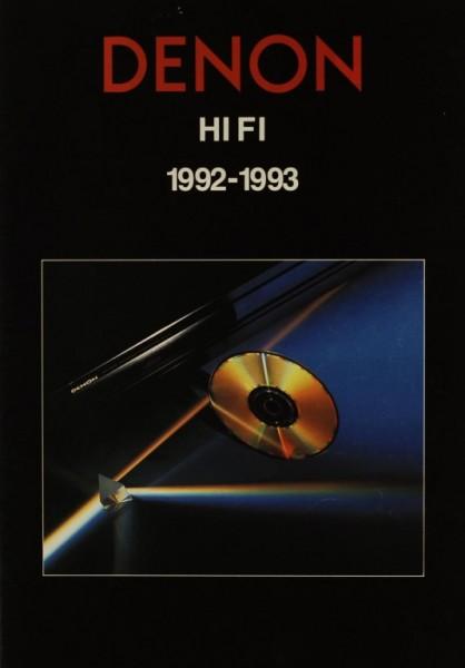Denon HiFi 1992-1993 Prospekt / Katalog