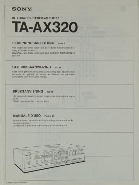 Sony TA-AX 320 Bedienungsanleitung