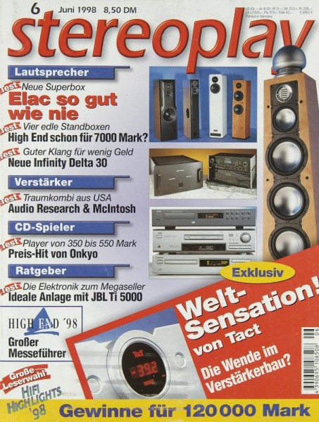 Stereoplay 6/1998 Zeitschrift