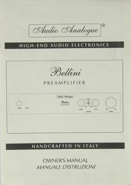 Audio Analogue Bellini Bedienungsanleitung