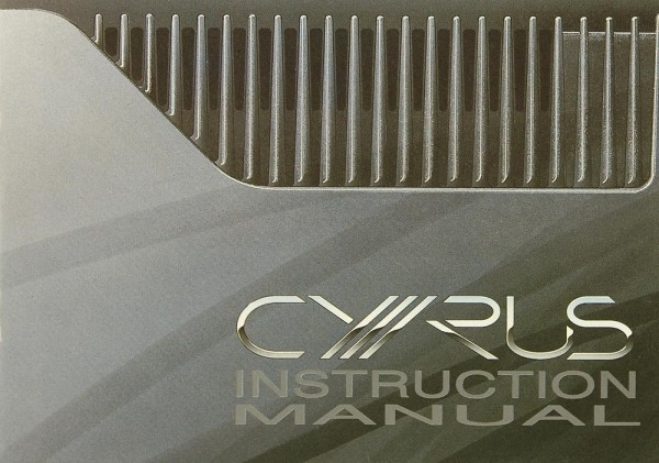 Mission / Cyrus PSX-R Bedienungsanleitung