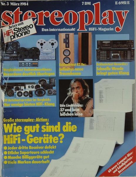 Stereoplay 3/1984 Zeitschrift