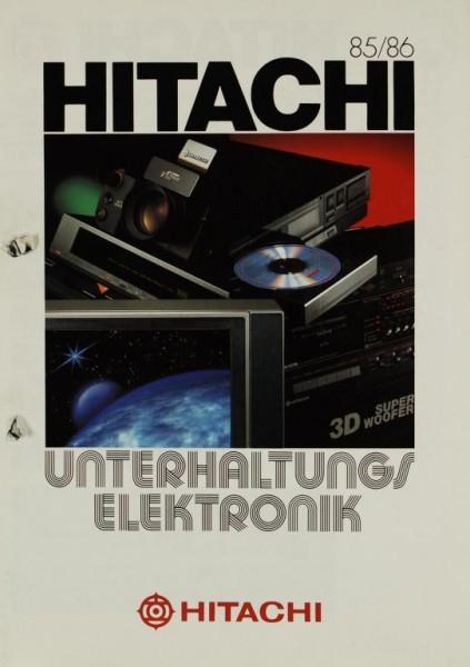 Hitachi 85/86 Unterhaltungselektronik Prospekt / Katalog