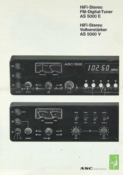ASC AS 5000 V / AS 5000 E Prospekt / Katalog