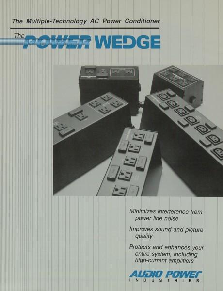 Audio Power Industries The Power Wedge Prospekt / Katalog