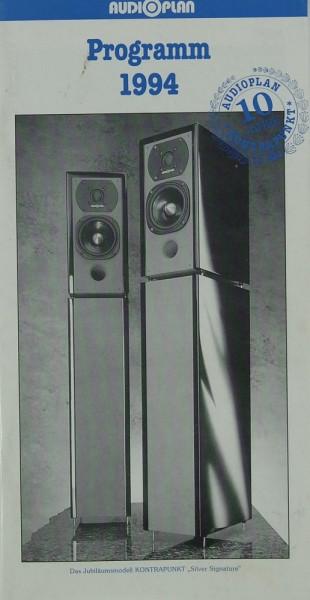 Audioplan Programm 1994 Prospekt / Katalog