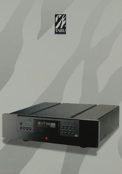 Gryphon Tabu CDP 1 Prospekt / Katalog