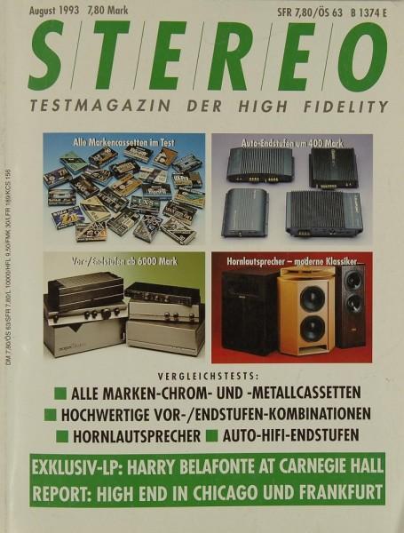 Stereo 8/1993 Zeitschrift