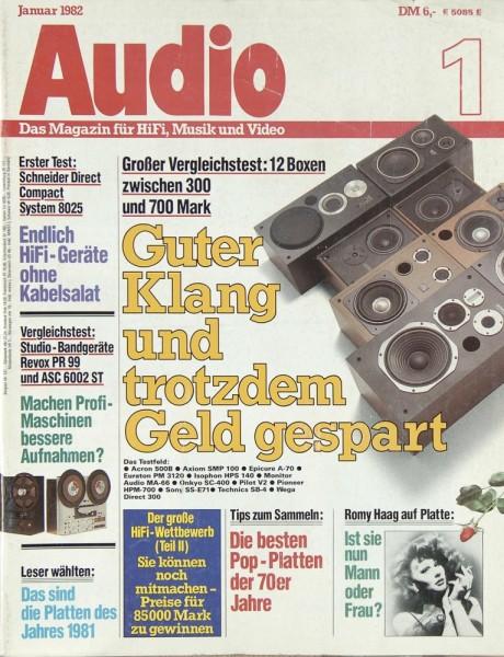 Audio 1/1982 Zeitschrift