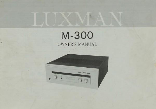 Luxman M-300 Bedienungsanleitung