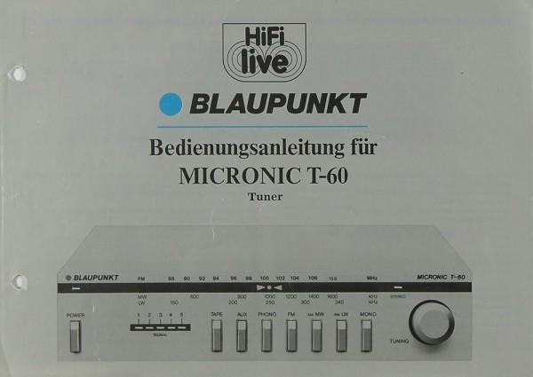 Blaupunkt Micronic T-60 Bedienungsanleitung