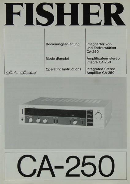 Fisher CA-250 Bedienungsanleitung
