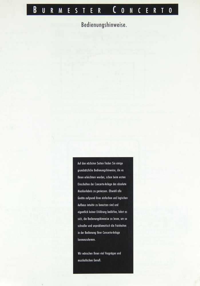 Burmester Concerto User Manual