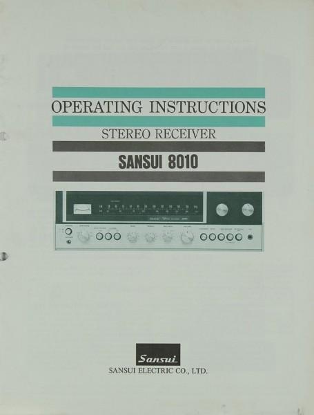 Sansui 8010 Bedienungsanleitung