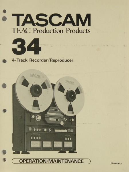 Tascam / Teac 34 Bedienungsanleitung