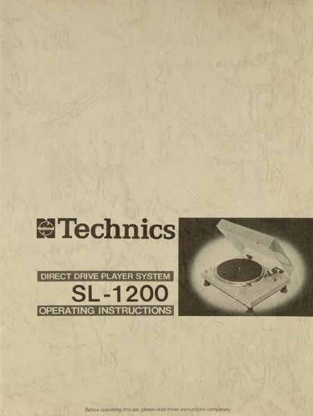 Technics SL-1200 Bedienungsanleitung