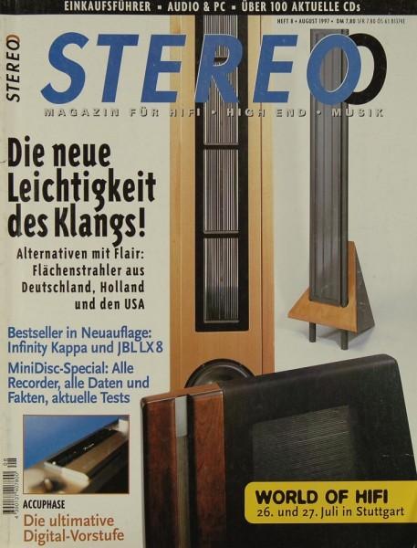 Stereo 8/1997 Zeitschrift