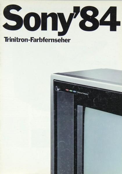 Sony Gesamtkatalog 1984 Trinitron Farbfernseher Prospekt / Katalog