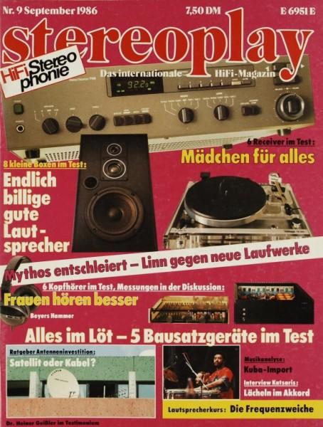 Stereoplay 9/1986 Zeitschrift
