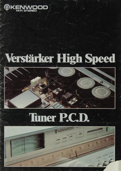 Kenwood Verstärker / Tuner Prospekt / Katalog