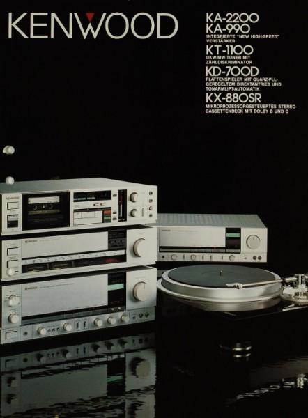 Kenwood KA-2200 / KA-990 / KT-1100 / KD-700D / KX-880SR Prospekt / Katalog