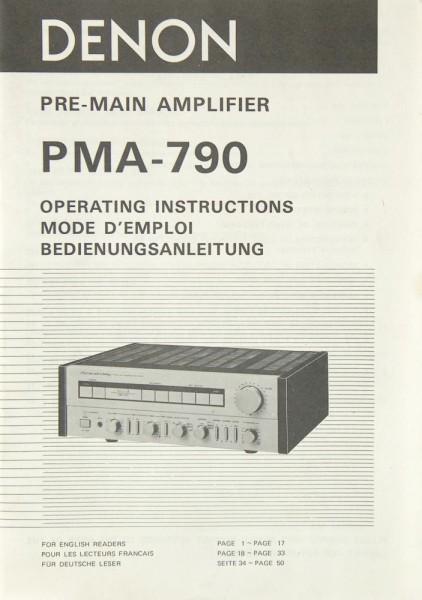Denon PMA-790 Bedienungsanleitung