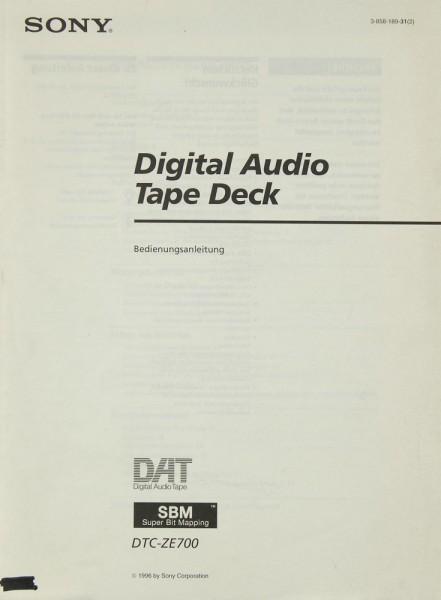 Sony DTC-ZE 700 Bedienungsanleitung