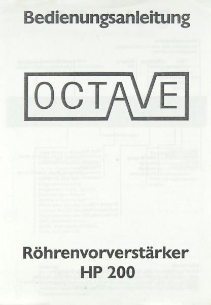 Octave HP 200 Bedienungsanleitung