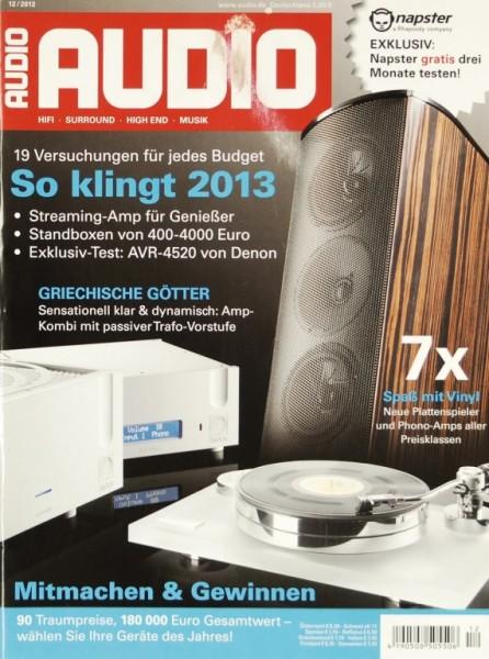 Audio 12/2012 Zeitschrift