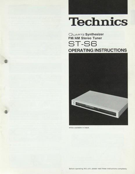 Technics ST-S 6 Bedienungsanleitung