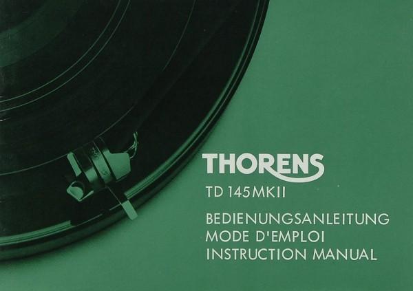 Thorens TD 145 MK II Bedienungsanleitung