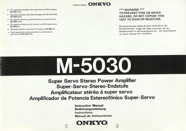 Onkyo M-5030 Bedienungsanleitung