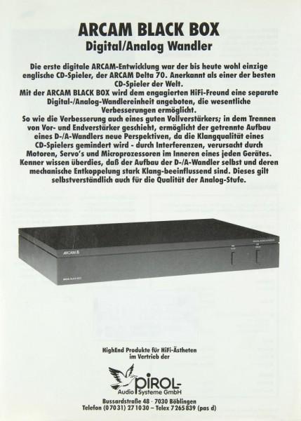 Arcam Black-Box Prospekt / Katalog